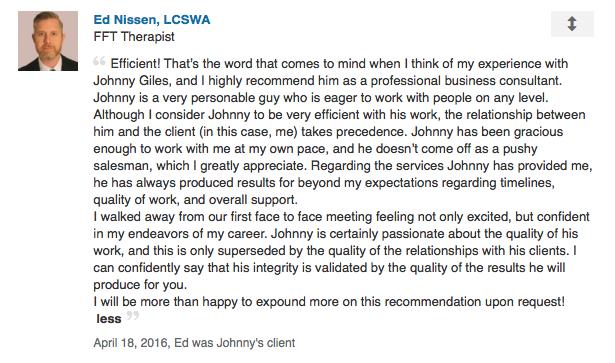 Ed Nissen Recommendation on LinkedIn